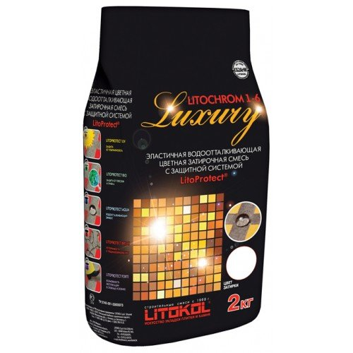 LITOCHROM 1-6 LUXURY C.00 белая 2kg Al.bag Litokol